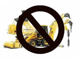 no backhoe