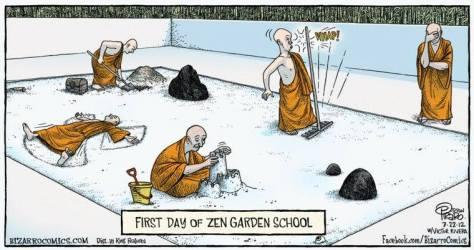 Zen garden school