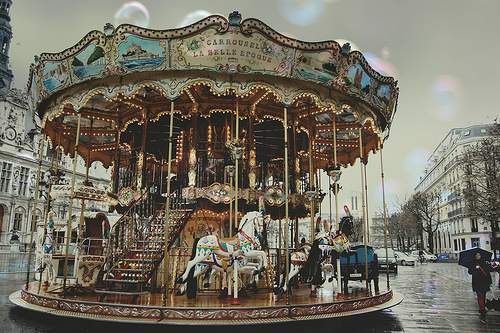 vintage merry go round